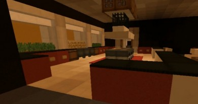 Minecraft Builds: Modern Style House with Surprise Dining Room